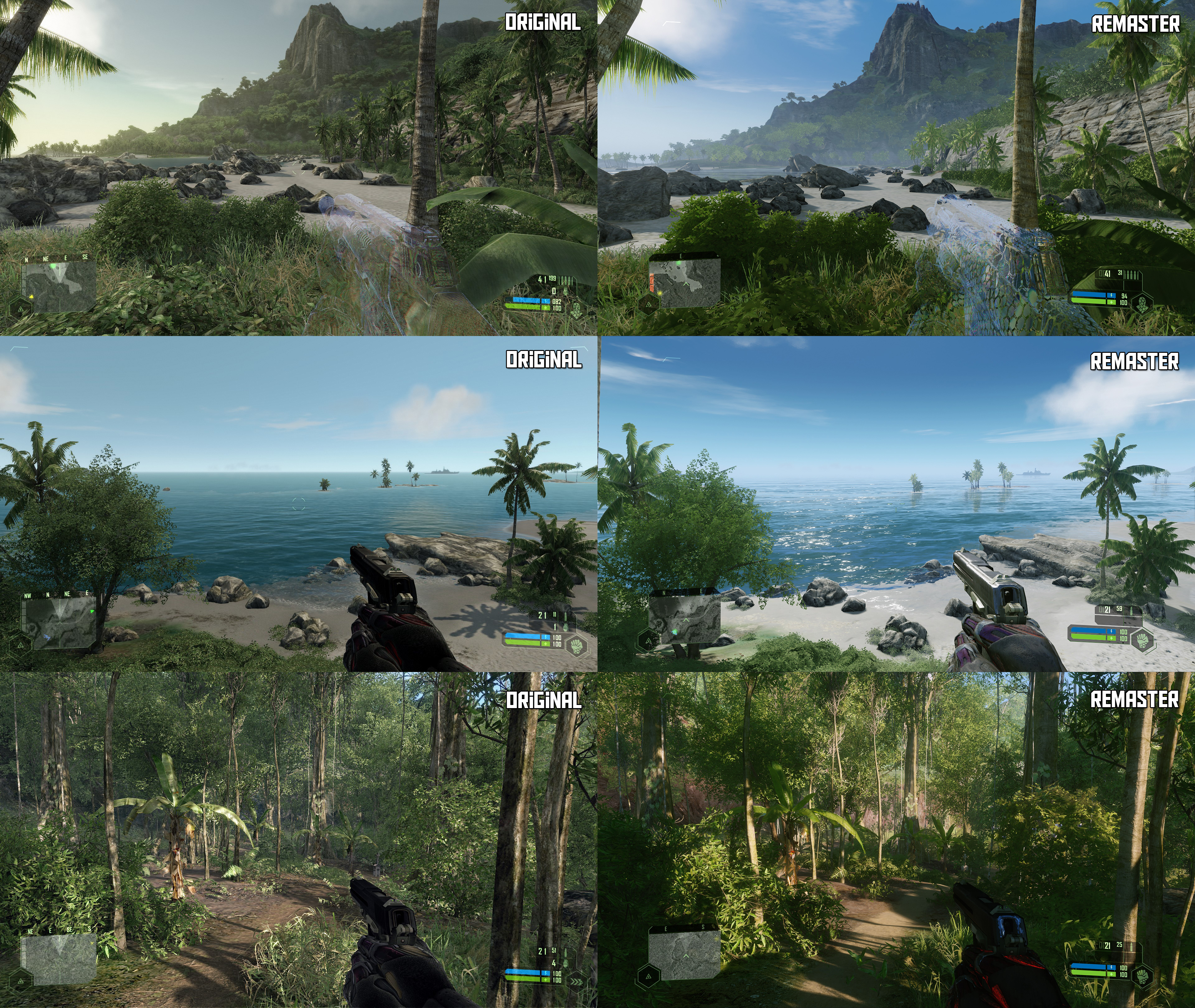 Comparan Crysis Remastered con su original y el resultado no parece convencer 2